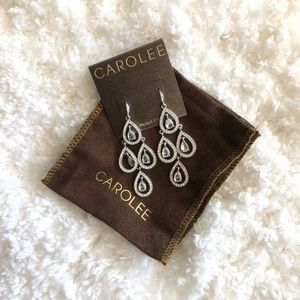Carolee Tear Drop Nickel Free Pendant Earrings